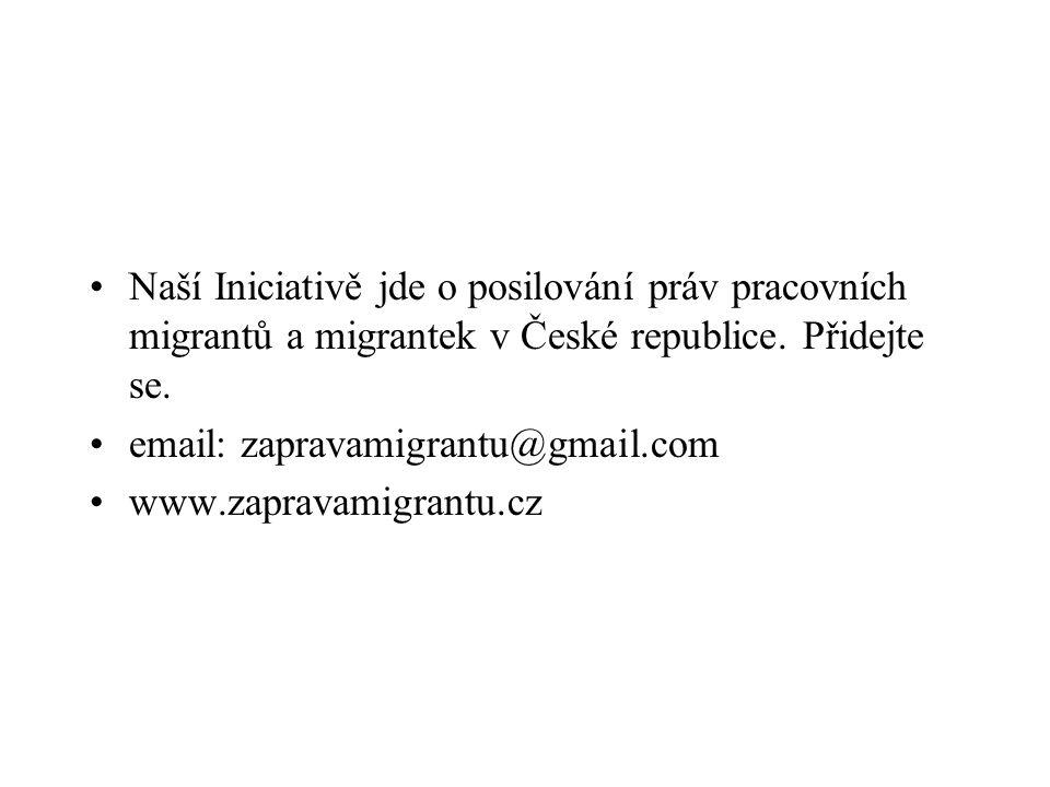 Naší Iniciativě jde o posilování práv pracovních migrantů a migrantek v České republice. Přidejte se.
