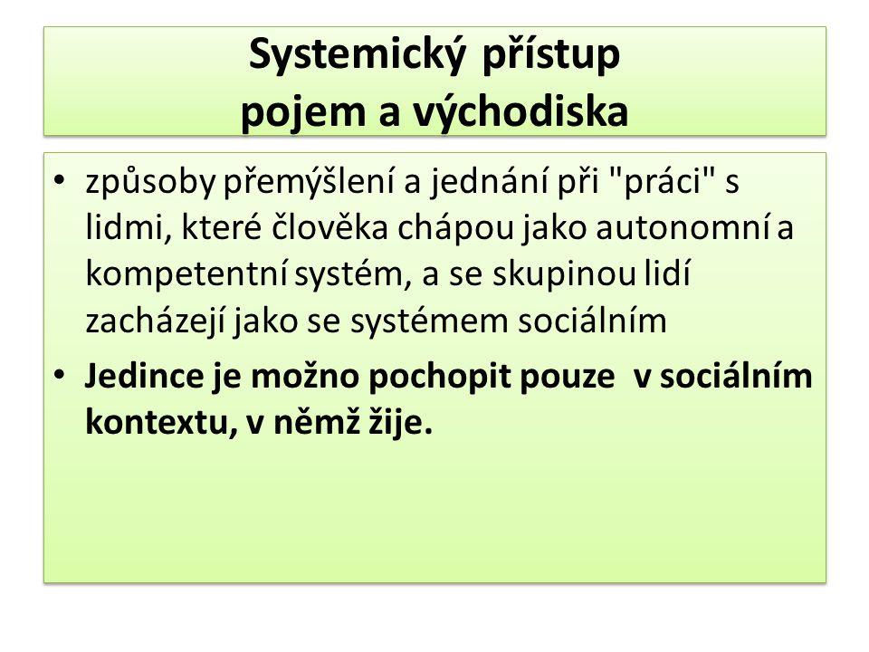 Systemický přístup pojem a východiska