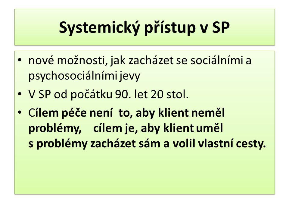 Systemický přístup v SP