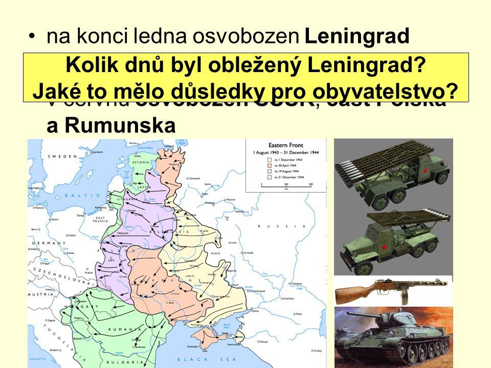 na konci ledna osvobozen Leningrad