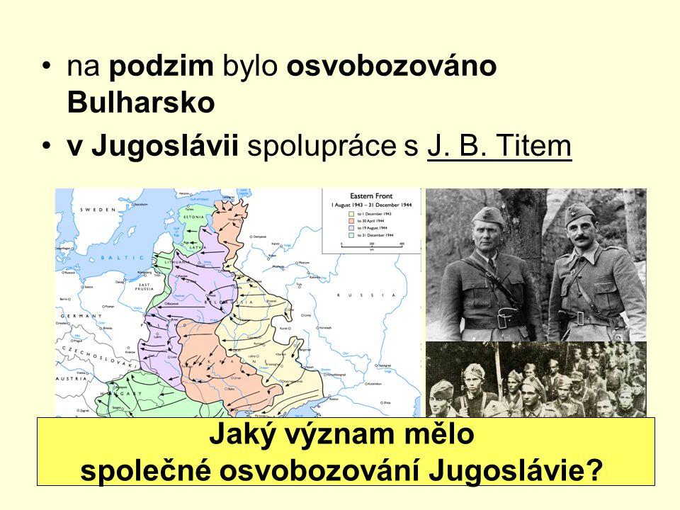 společné osvobozování Jugoslávie