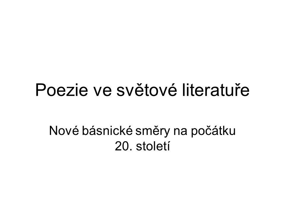 Poezie ve světové literatuře