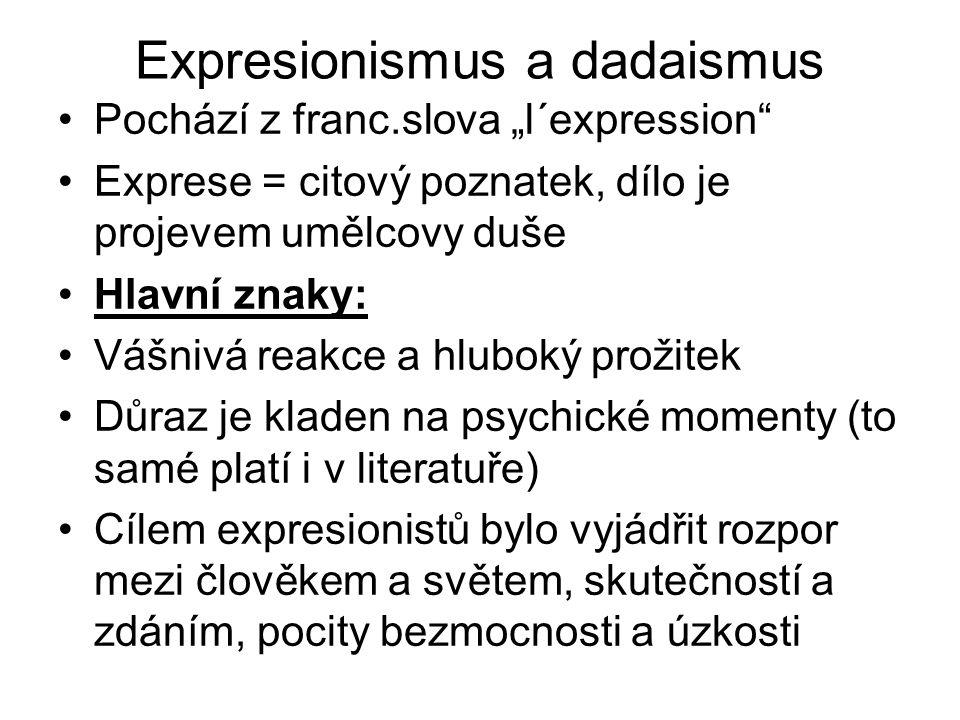 Expresionismus a dadaismus