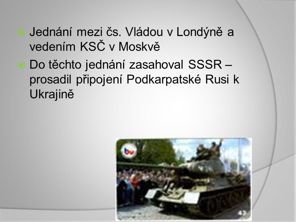 Jednání mezi čs. Vládou v Londýně a vedením KSČ v Moskvě