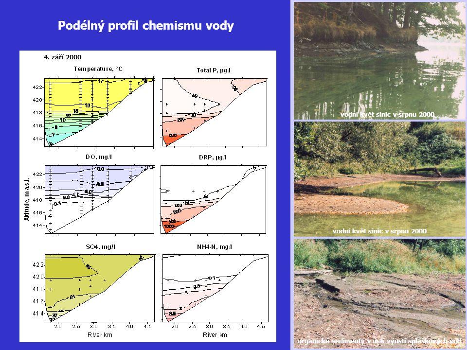 Podélný profil chemismu vody