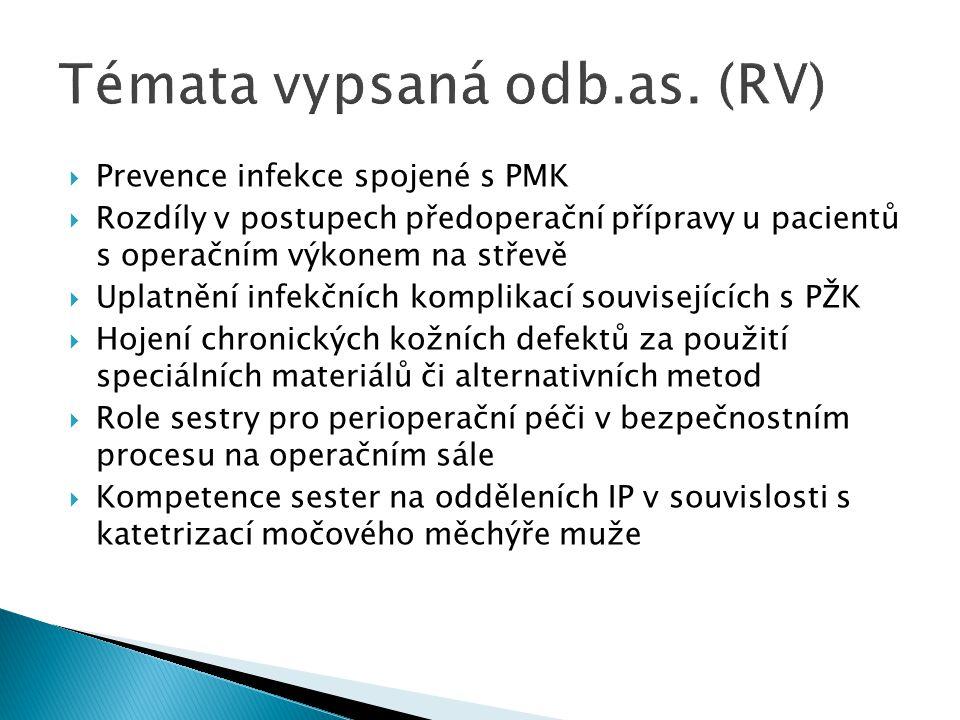 Témata vypsaná odb.as. (RV)