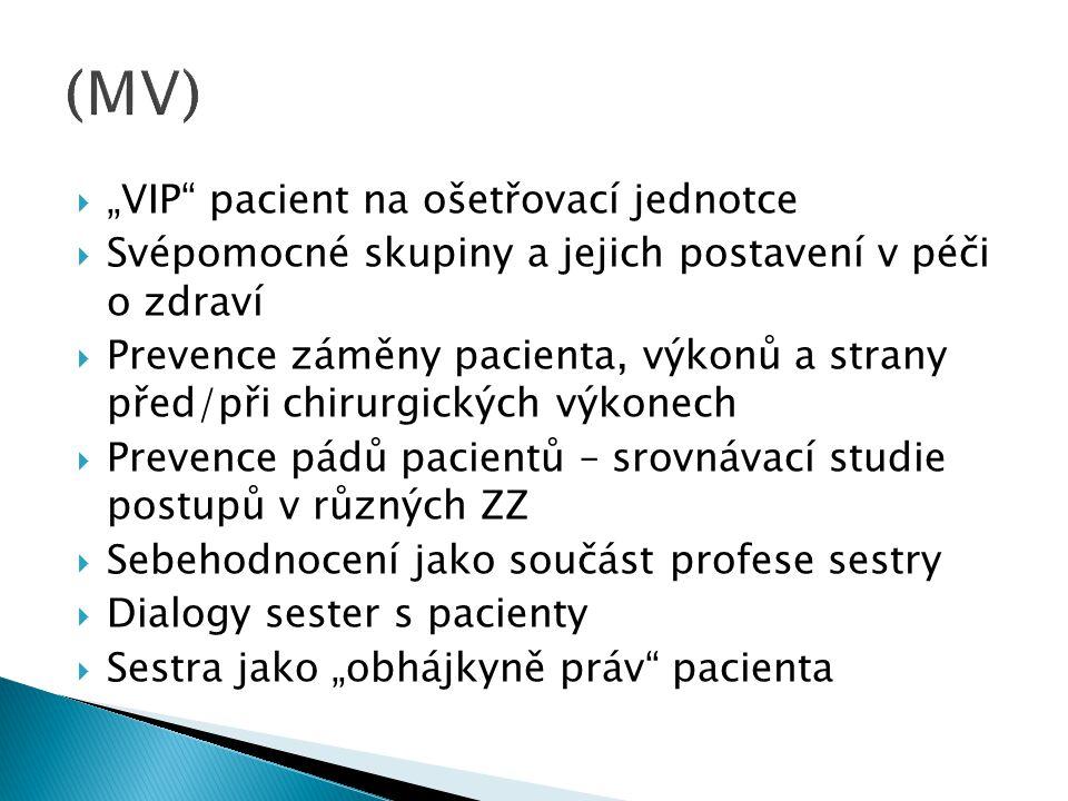 """(MV) """"VIP pacient na ošetřovací jednotce"""
