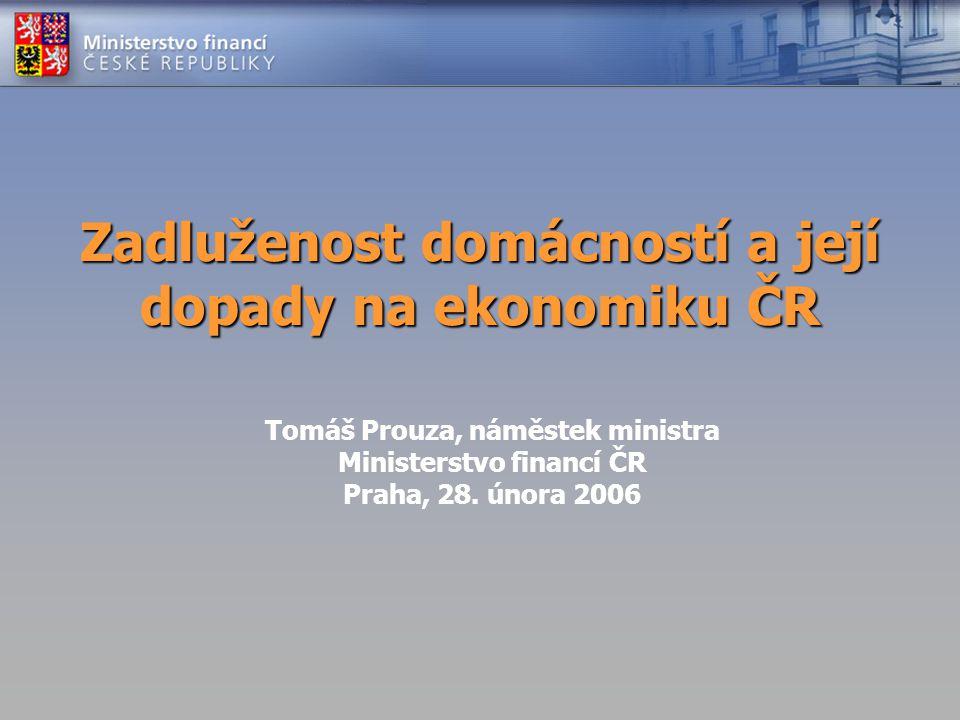 Zadluženost domácností a její dopady na ekonomiku ČR