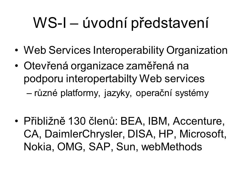 WS-I – úvodní představení