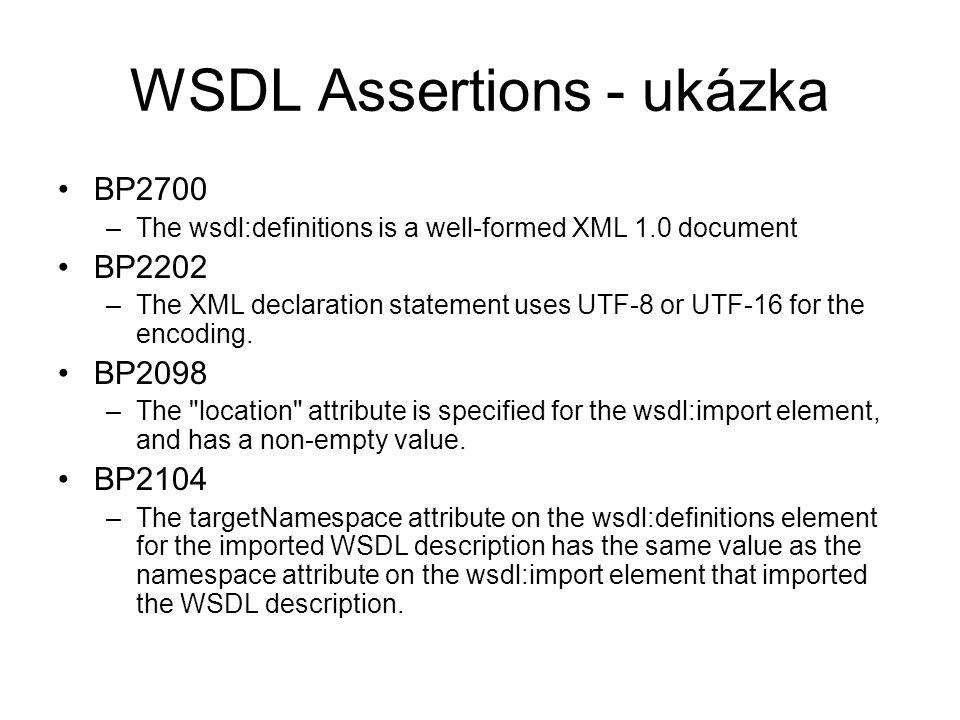 WSDL Assertions - ukázka