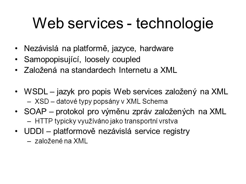 Web services - technologie