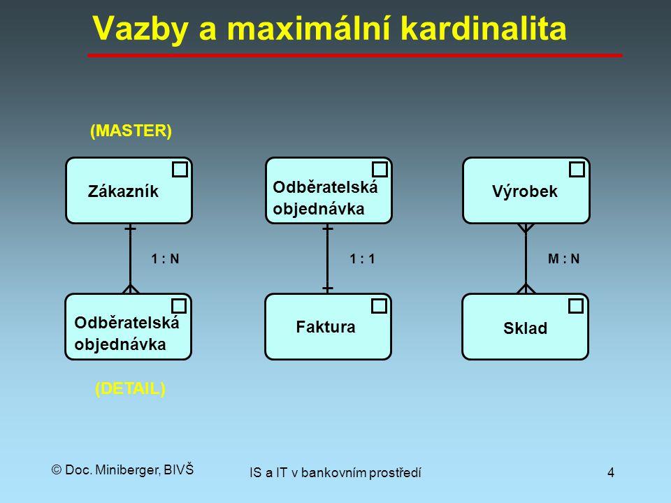 Vazby a maximální kardinalita