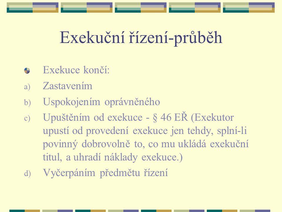 Exekuční řízení-průběh