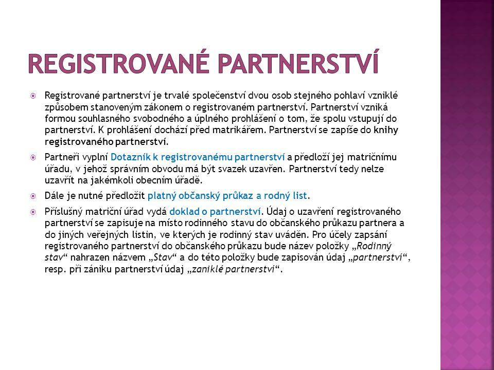 Registrované partnerství