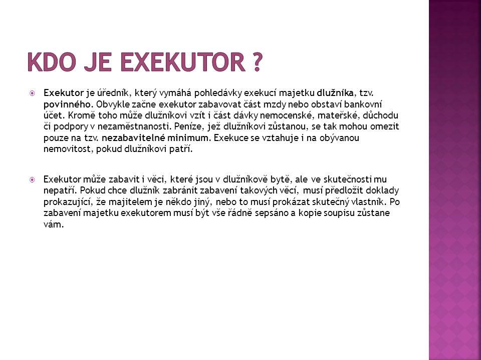 Kdo je exekutor