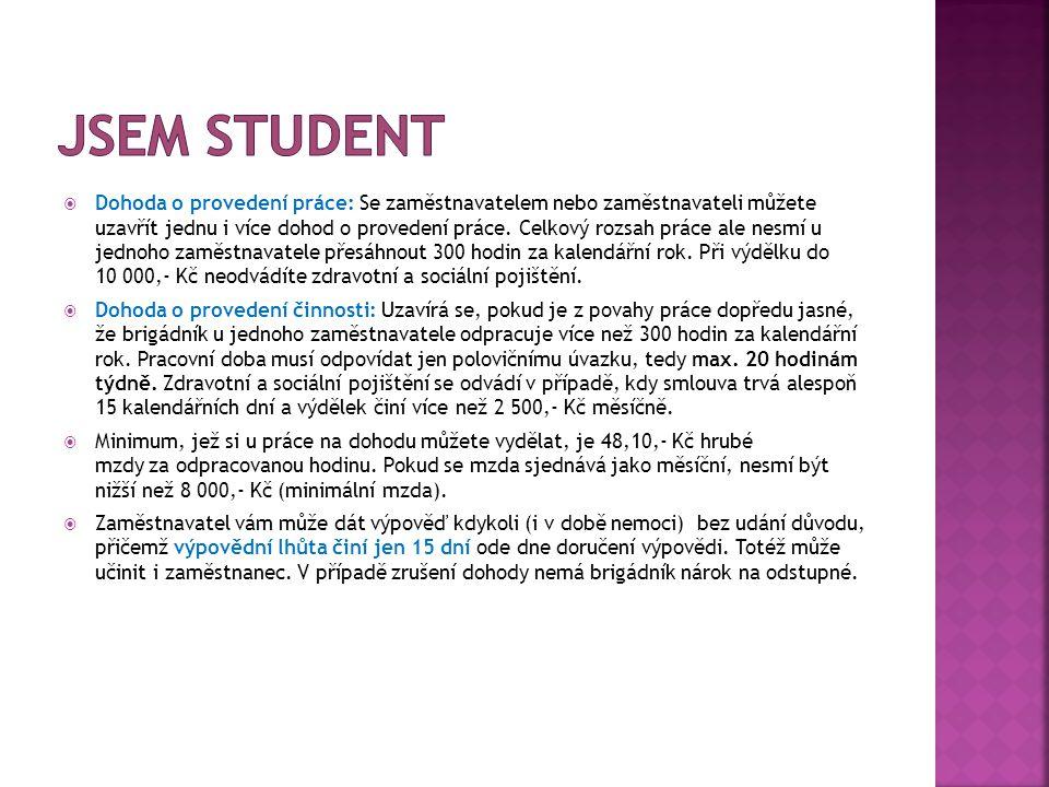 Jsem student