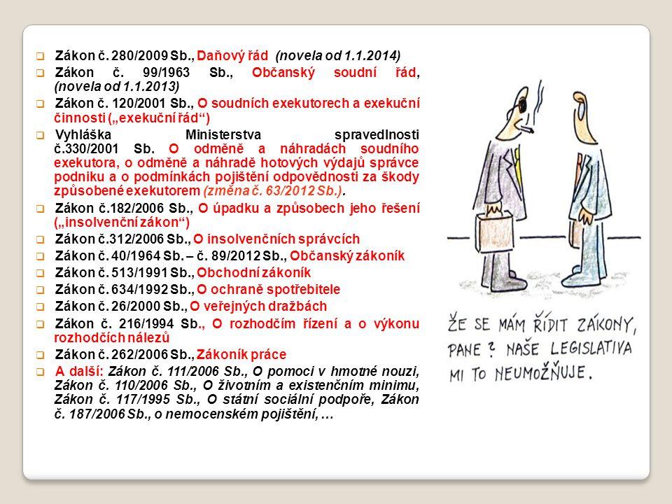 Zákon č. 280/2009 Sb., Daňový řád (novela od 1.1.2014)