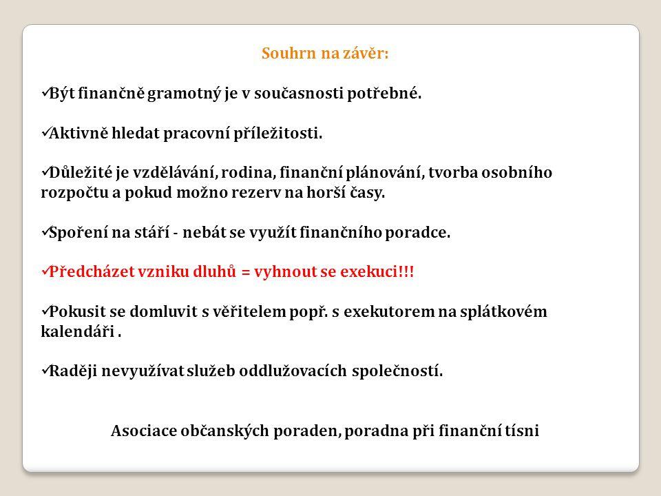 Asociace občanských poraden, poradna při finanční tísni