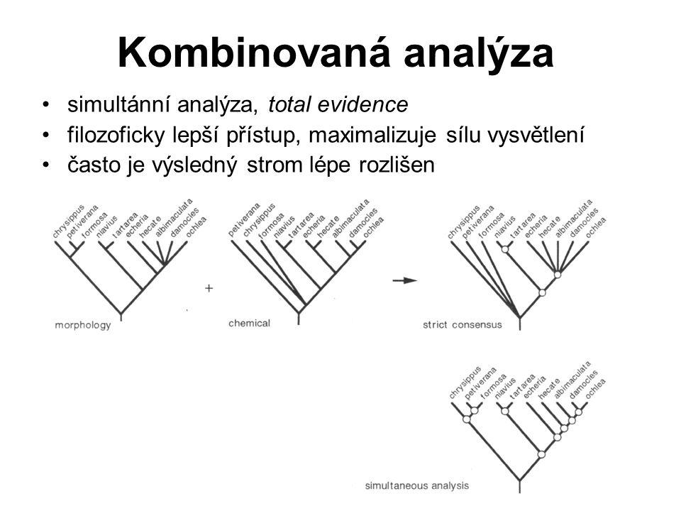 Kombinovaná analýza simultánní analýza, total evidence