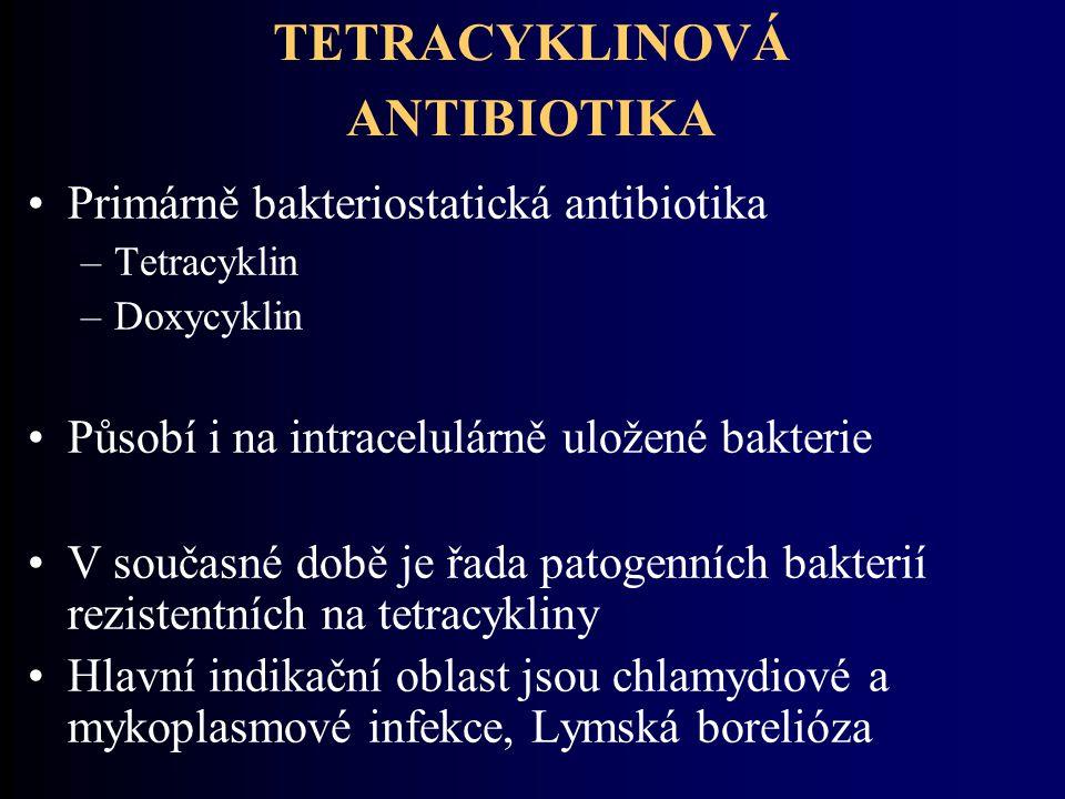 TETRACYKLINOVÁ ANTIBIOTIKA
