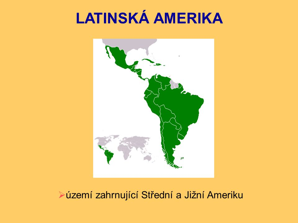 území zahrnující Střední a Jižní Ameriku