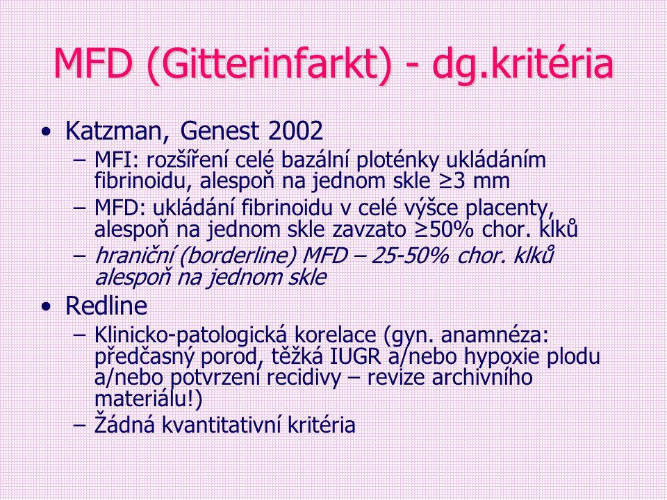 MFD (Gitterinfarkt) - dg.kritéria