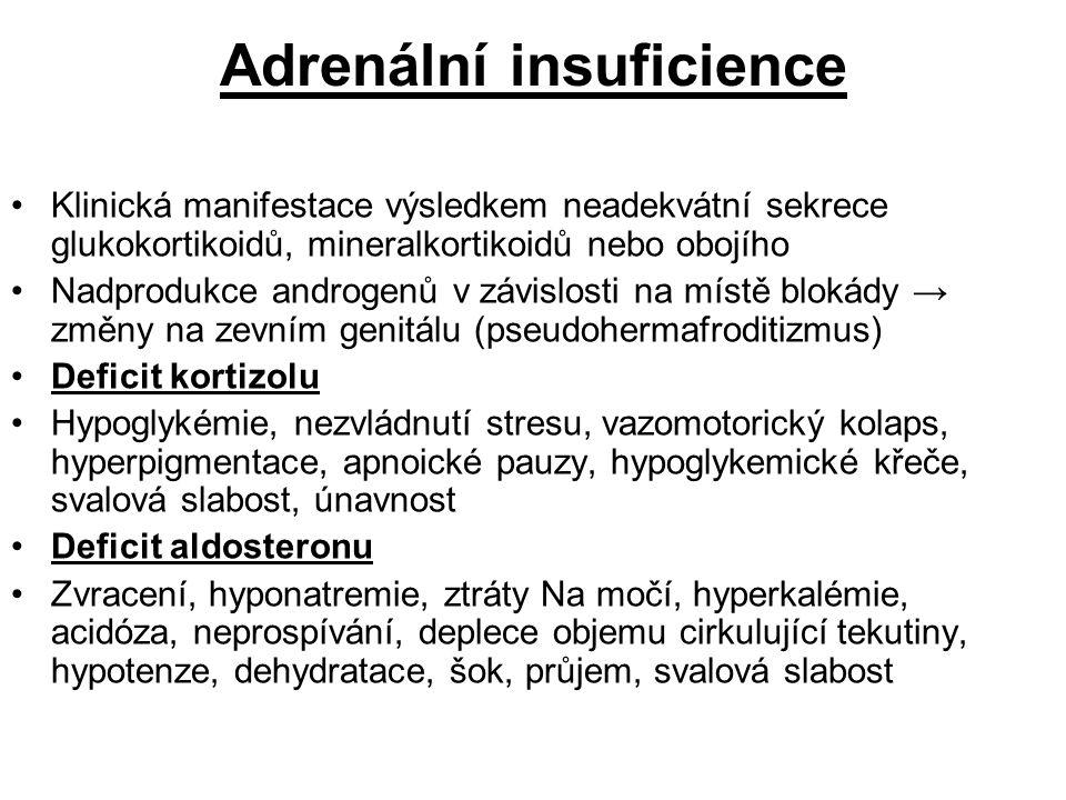 Adrenální insuficience