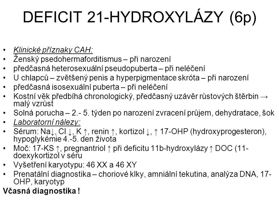DEFICIT 21-HYDROXYLÁZY (6p)