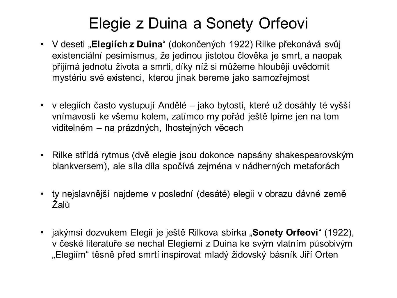 Elegie z Duina a Sonety Orfeovi