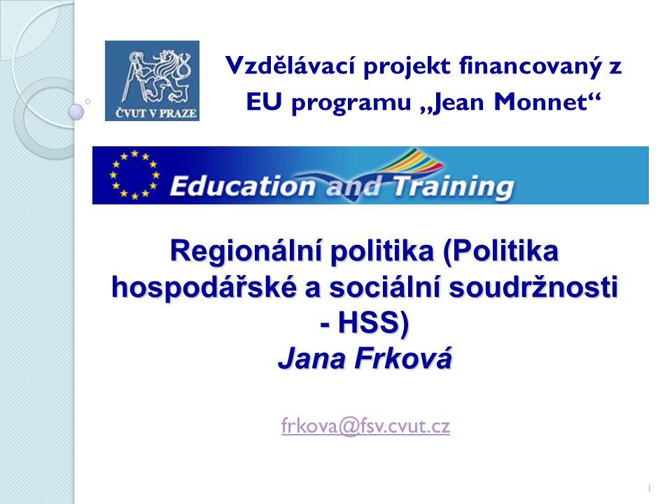 """Vzdělávací projekt financovaný z EU programu """"Jean Monnet"""