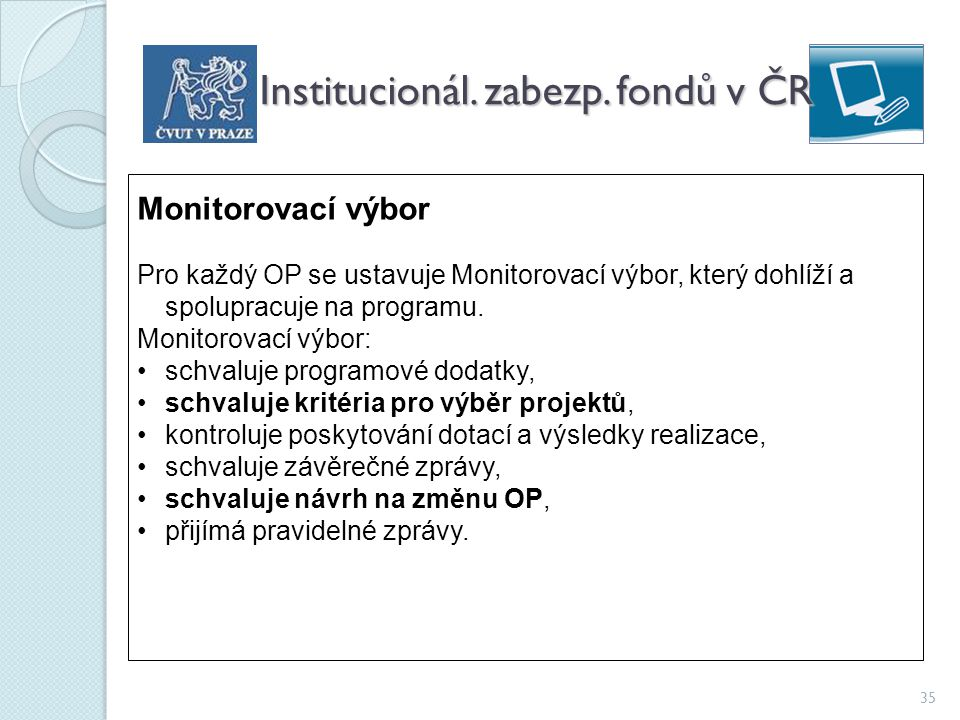 Institucionál. zabezp. fondů v ČR