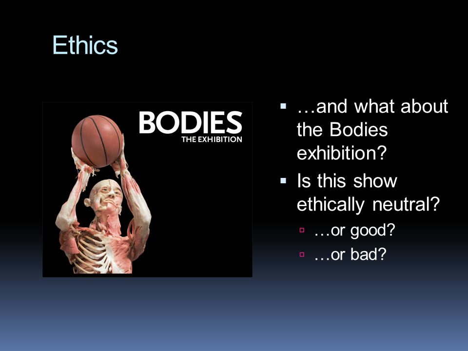 Ethics …and what about the Bodies exhibition
