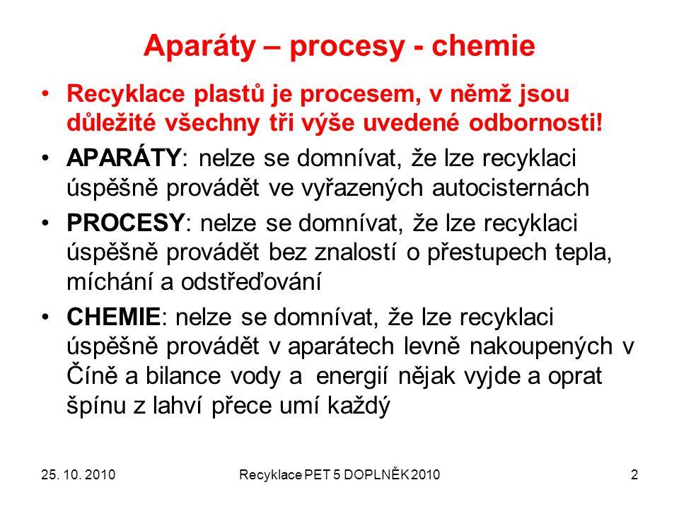 Aparáty – procesy - chemie