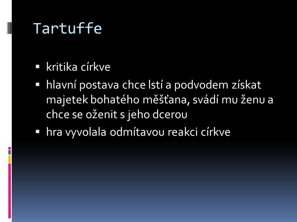 Tartuffe kritika církve