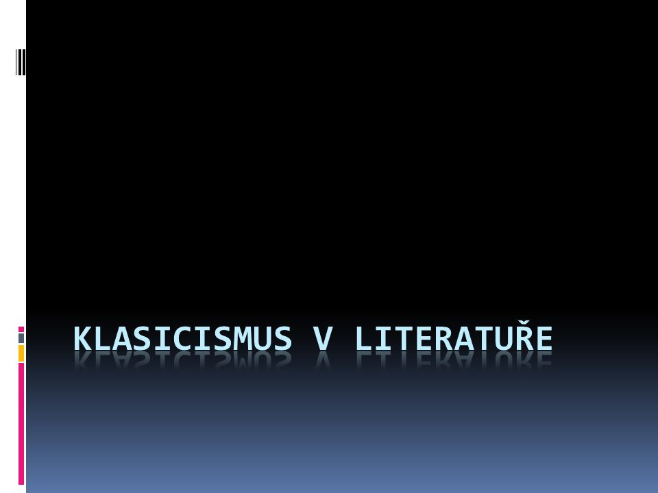 Klasicismus v literatuře