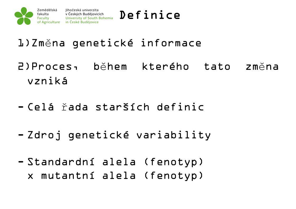Definice Změna genetické informace