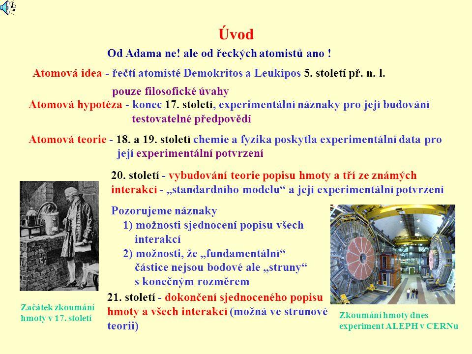 Úvod Od Adama ne! ale od řeckých atomistů ano !