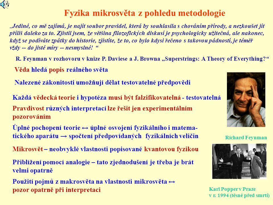 Fyzika mikrosvěta z pohledu metodologie