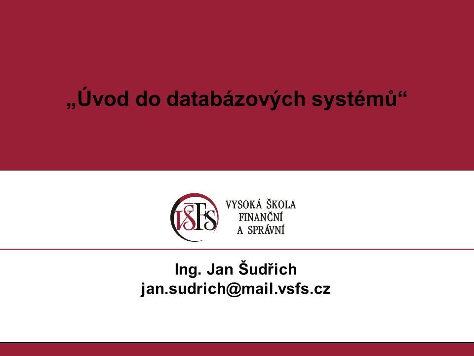 """""""Úvod do databázových systémů"""