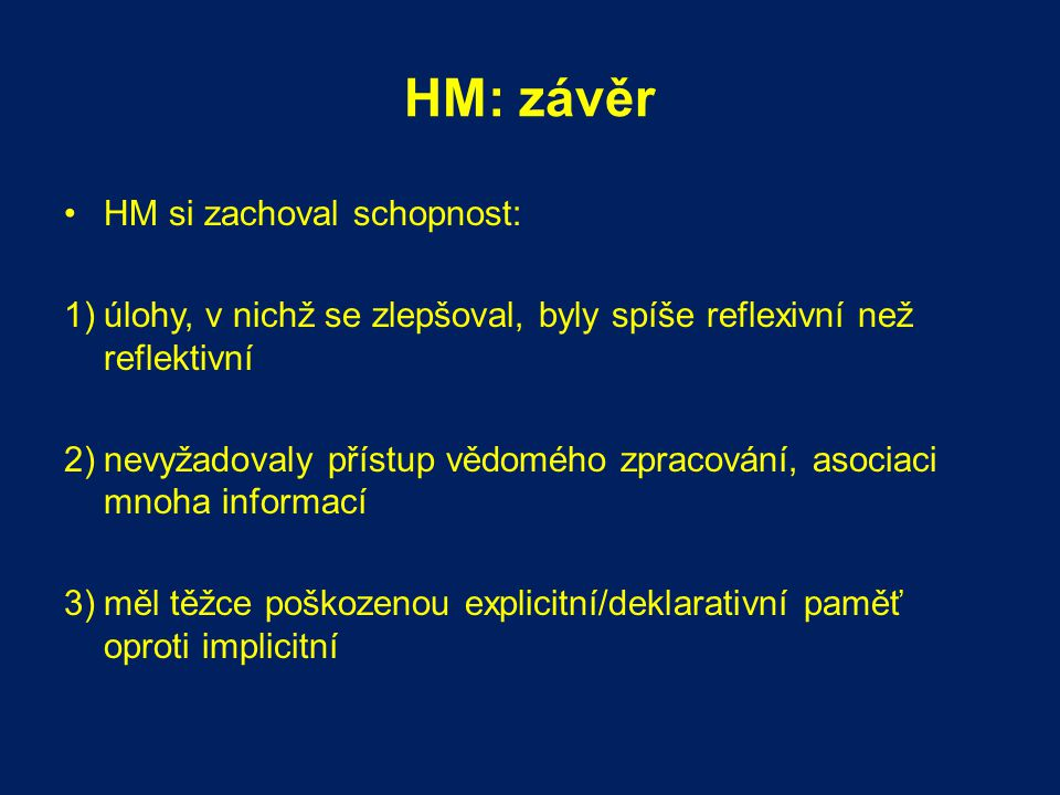 HM: závěr HM si zachoval schopnost: