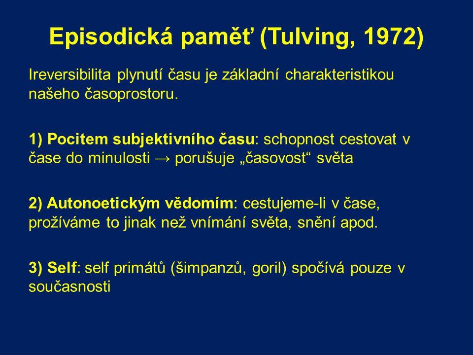 Episodická paměť (Tulving, 1972)