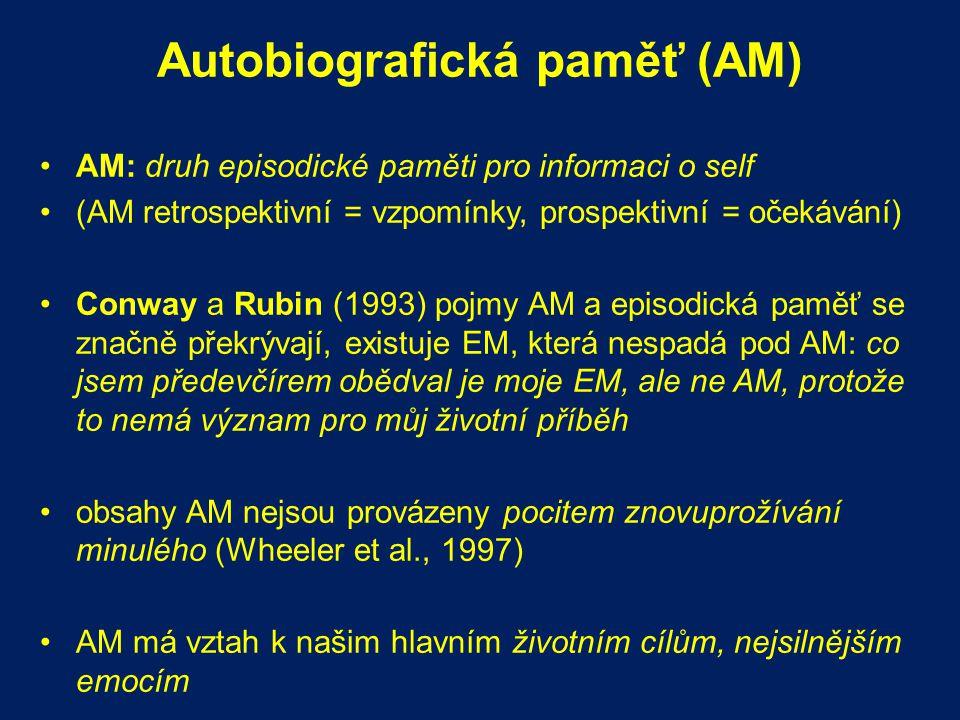Autobiografická paměť (AM)