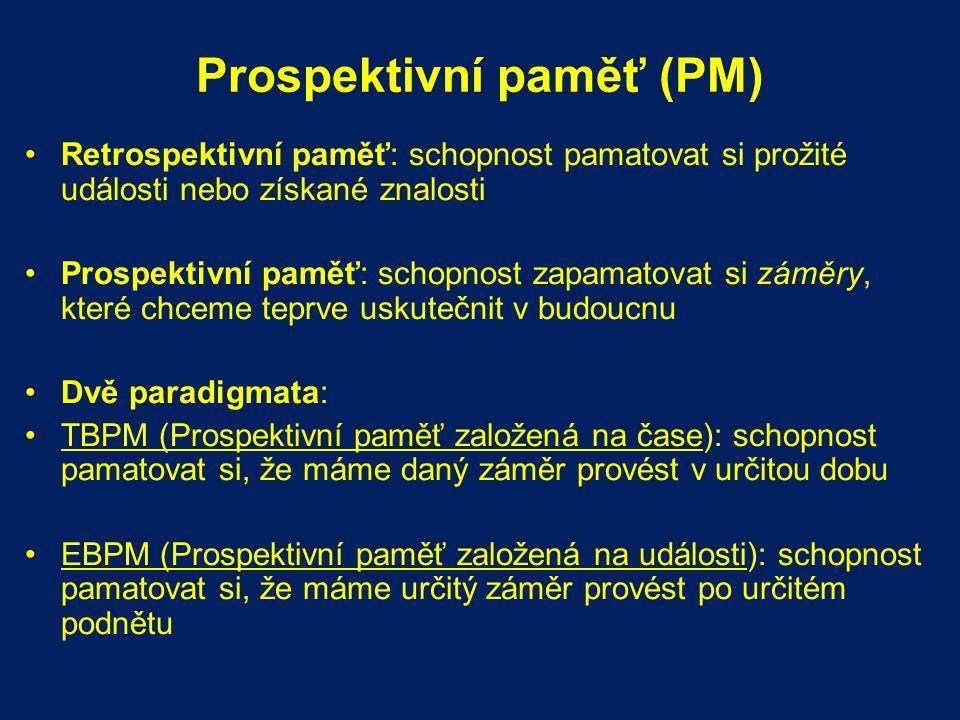 Prospektivní paměť (PM)