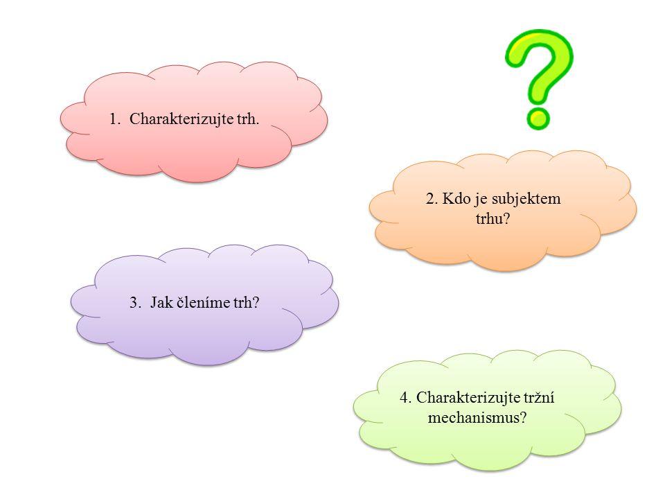 4. Charakterizujte tržní mechanismus