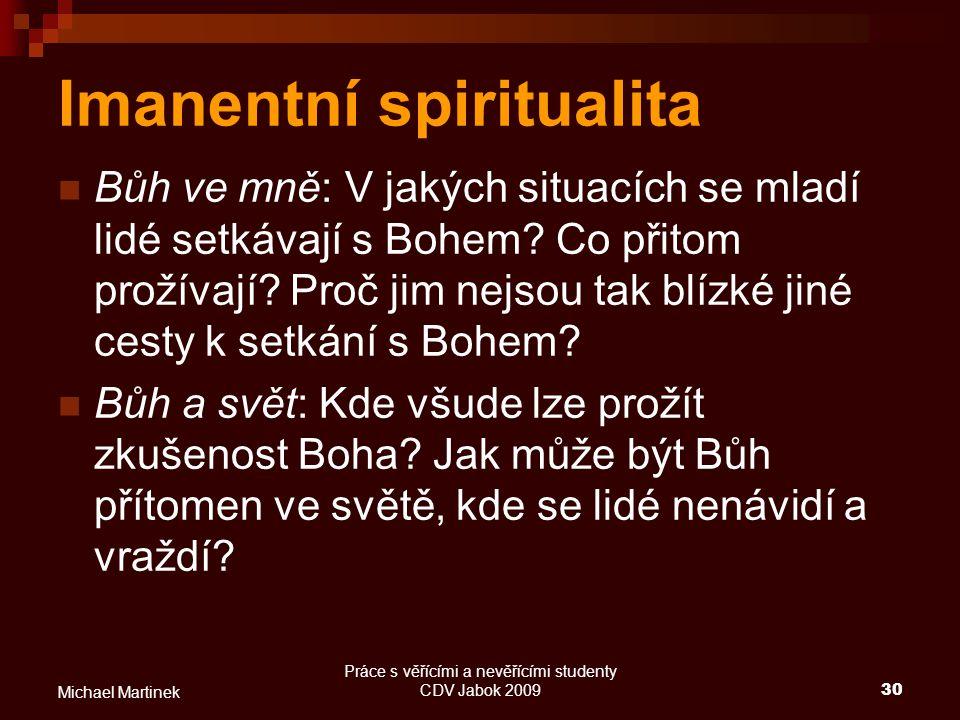 Imanentní spiritualita