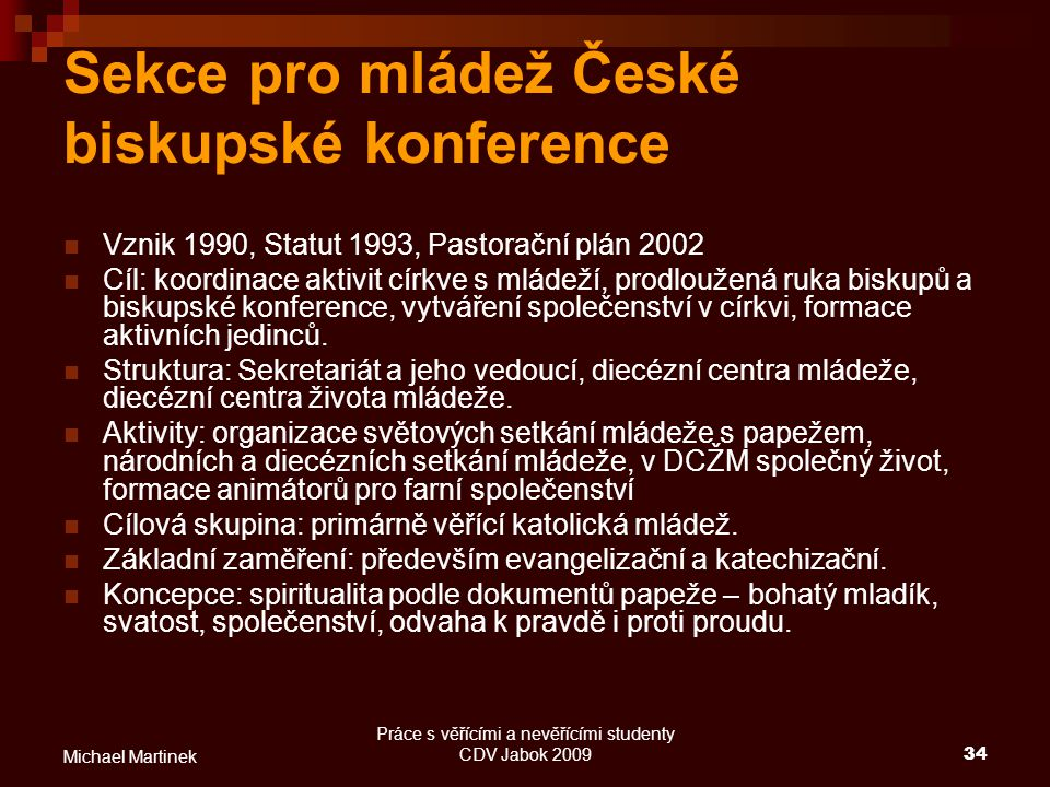 Sekce pro mládež České biskupské konference