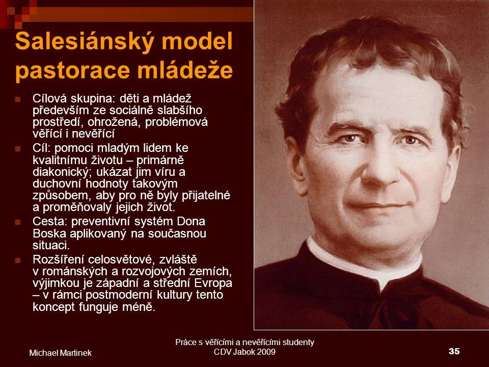 Salesiánský model pastorace mládeže