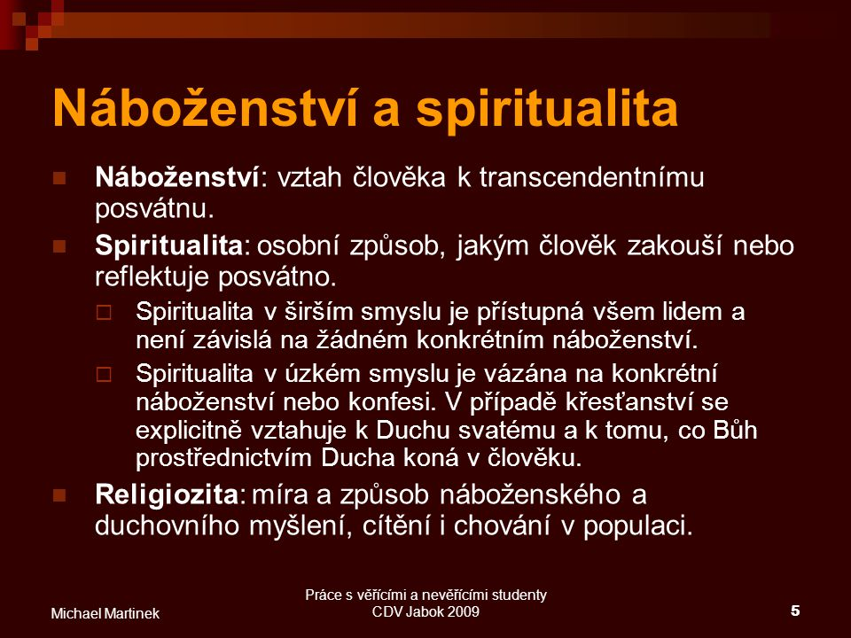 Náboženství a spiritualita