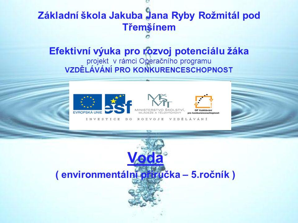 Voda ( environmentální příručka – 5.ročník )