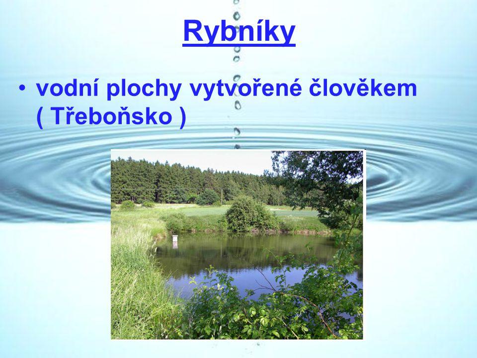 Rybníky vodní plochy vytvořené člověkem ( Třeboňsko )